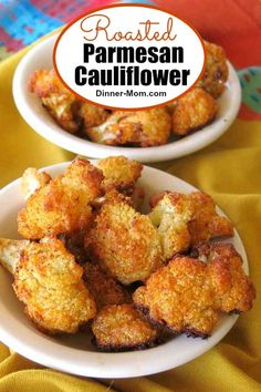 Roasted Parmesan Cauliflower is the perfect low-carb keto-friendly side dish! It never lasts long at our house! Roasted Parmesan Cauliflower is the perfect low-carb keto-friendly side dish! It never lasts long at our house! Parmesan Cauliflower, Cauliflower Bites, Cauliflower Recipes, Cauliflower Casserole, Diet Recipes, Cooking Recipes, Healthy Recipes, Diet Meals, Recipies