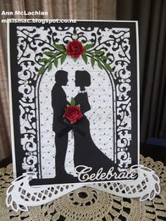 "Gorgeous wedding card made with Cheery Lynn ""Wedding Vows"" die… Wedding Cards Handmade, Handmade Birthday Cards, Handmade Cards, Wedding Anniversary Cards, Wedding Vows, Church Wedding, Wedding Ideas, Paper Crafts Wedding, Invitation Cards"