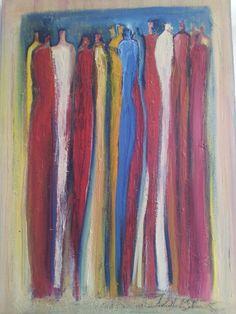 Oil on canvas..by Tahmina Stenevik. 'Friends of friend's