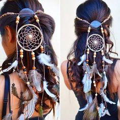 Love these dream catcher headbands! via @PurpleBeetle ~Loz
