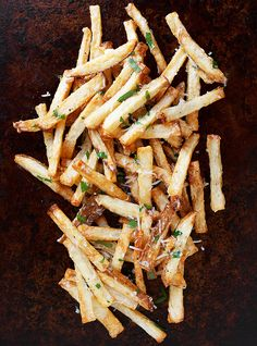 Garlic Aioli and Parmesan Fries - A super simple and incredibly delicious way to dress up plain fries!