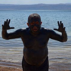 The #DeadSea monster coming out to scare the #TravelAdventurers in #Jordan. #GrabYourDream #travel