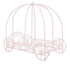 DHP Metal Carriage Bed, Fairy Tale Bed Frame, Shabby-Chic Style, Twin, White - Exactly what we were looking for.This DHP that is ranked 158714 in the top most p Twin Canopy Bed, Princess Canopy Bed, Princess Room, Pink Princess, Canopy Bedroom, Rose Bedroom, Kids Canopy, Dream Bedroom, Princess Carriage Bed