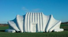 High resolution images of a Tectoniks inflatable structure. A new generation of high performance inflatable buildings including event structures, portable buildings, military structures, portable hangars and inflatable emergency shelters. Membrane Structure, Dome House, Space Party, Other Rooms, Outer Space, Art And Architecture, Habitats, United Kingdom, Red Planet
