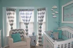Błękity, turkusy w pokojach dziecięcych - Studio Barw - świat wnętrz z dziecięcych snów