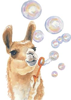Llama blowing bubbles LOL Peru VBS 2017
