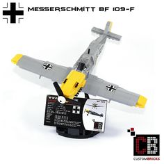 LEGO_Custom_WW2_Warplane_Messerschmitt_BF109-F_CB05 | by LA-Design2012