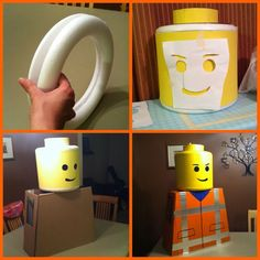 J'ai consulté de nombreux tutoriels de déguisement de lego et je voulais simplement partager ma sh ... - Defiles Lego Halloween Costumes, Halloween Kostüm, Family Halloween, Halloween Decorations, Diy Lego Costume, Lego Movie Costume, Lego Movie Party, Lego Birthday Party, Lego Hand