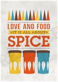 Art for Kitchen Cathrineholm kitchen poster Typography by handz