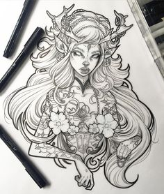 It feels good to finish up another ink drawing Someone asked me where I get my…