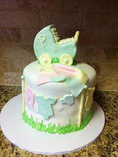 Gender Neutral Baby Shower Cake