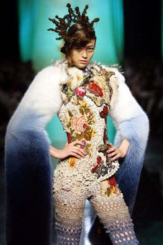 If this is any example, when Gaultier does crochet, he really does it bold!