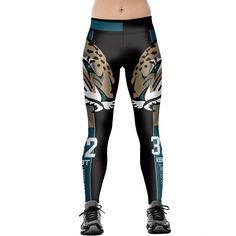 93cb54dbb38 American Footballs Jacksonville Jaguars Print Leggings fitness Leggings for  Women Sporting Workout Leggings Elastic Slim Pants