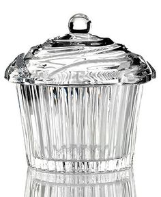 Godinger Candy Dish, Sweet Shoppe Cupcake - Serveware - Dining & Entertaining - Macy's from Macys. Candy Jars, Candy Dishes, Glass Candy, Cupcakes For Sale, Crystal Cupcakes, Lindt Truffles, Old Time Pottery, Lindt Chocolate, Lindt Lindor