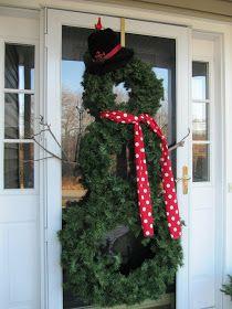 bovagoods: christmas goods: front door decor diy