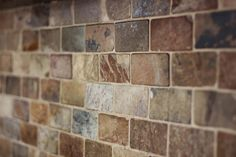backsplash idea.....love the slate and the variations in pattern and color.