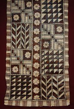 SAMOAN TAPA CLOTH, MID 20th - quilt pattern ideas