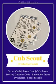 Printable Cub Scout Cards: Fun Resource Want a fun resource for your den or pack? Then read on to see how I used these cool printable Cub Scout cards. Cub Scout Motto, Cub Scout Law, Cub Scouts Wolf, Tiger Scouts, Scout Mom, Girl Scouts, Cub Scout Skits, Cub Scout Games, Scouting