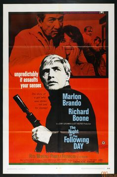 The Night of the Following Day 1969 Vintage 27 x 41 Poster 1 sheet