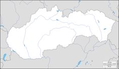 blank map of slovakia - Hledat Googlem Diagram, Map, Location Map, Maps