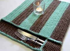 crocheted pocket placemats