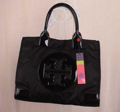1045598e775454 Tory Burch On Sale Ella Black Nylon Tote Bags