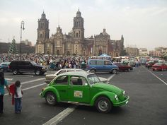 zocalo, mexico city  		the zocalo in the heart of mexico city.... beetles were everywhere! although not as many as acapulco.