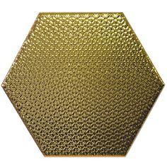 Kolekcja Hexagono - płytki ścienne Dec Hexagono Oro 17x15