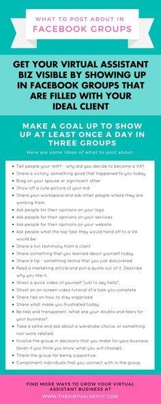 Get eyes on your VA biz by hustling in Facebook groups filled with your ideal clients! The Virtual Savvy blogging tips, virtual assistant business tips, marketing tips and VA tips #va #virtualassistant #marketing #socialmedia #blogging #facebook