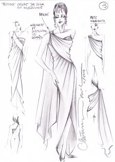 cr-como un shari Fashion Illustration Tutorial, Fashion Illustration Dresses, Dress Design Drawing, Dress Drawing, Fashion Design Drawings, Fashion Sketches, Ancient Greek Clothing, Fashion Design Template, Fashion Figures