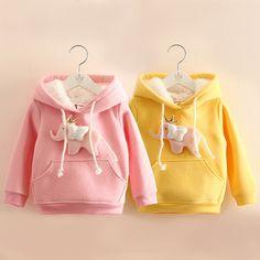 Baby girl fleece sweatshirt 2017 autumn girl long sleeve Hoodies kids hood outerwear kids tops 2T-10y //Price: $29.08 //     ##babyfashion