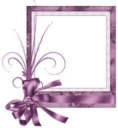 Cute Pink Transparent Frame with Bow