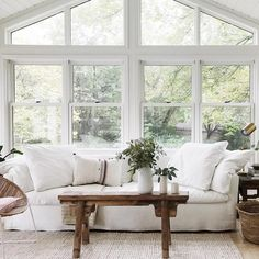 The ultimate sunroom!! White is universal , white is fresh and vibrancy. You can dull it down with throws and pillows or you can have the…