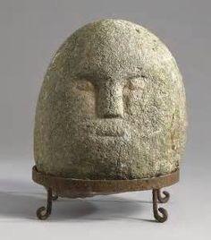 Irish stone head.