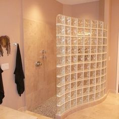 Glass Block Shower Wall Ideas, Pictures, Remodel and Decor