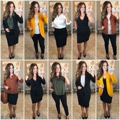 Mix and match career outfits from Target- capsule wardrobe Casual Work Outfits, Business Casual Outfits, Mom Outfits, Work Attire, Work Casual, Cute Outfits, Beautiful Outfits, Trendy Outfits, Dinner Outfits