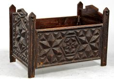 American Late 19th Century Tramp Art Baby Bed
