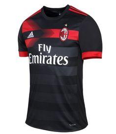 56051c987 17-18 AC Milan Third Away Black Soccer Jersey Shirt