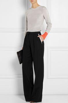 Roksanda Ilincic|Crepe wide-leg pants|NET-A-PORTER.COM