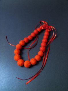 #bridesmaid #necklace #orange etsy #25