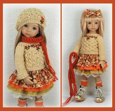 OOAK Fall Outfit from maggie_kate_create on ebay ends 8/14/14. SOLD for $187.50