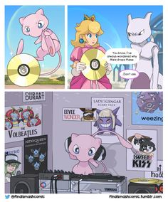 Why Mew drops CDs in Smash Bros!