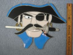 Stained Glass Pirate Window Hanging | eBay