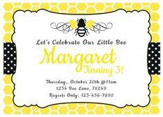 Bumble bee birthday party card bumble bee birthday and bumble bees bumble bee birthday invitation filmwisefo Images