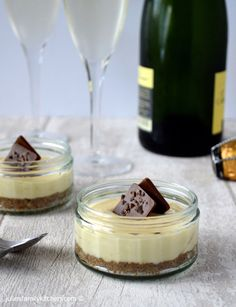 Passionfruit Cheesecake Pots, a delectable treat for your loved one this Valentine's day.