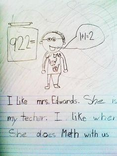 Funny kid homework
