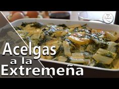 ACELGAS A LA EXTREMEÑA Vegan Recipes, Vegan Food, Empanadas, Meat, Chicken, Youtube, Home, Recipes With Potatoes, Spanish Cuisine