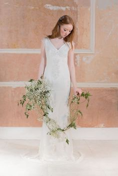 Rasha wedding dresses 2016 - Minimal embllished wedding dress -  see the rest of the collection on www.onefabday.com