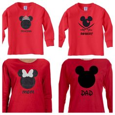 Disney Family Shirts, Mickey/Minnie Shirt, Matching Disney Shirts.  Toddler, Youth, Ladies and Mems sizes.  Cute gift!https://www.etsy.com/listing/498770983/disney-family-shirtsdisney-family