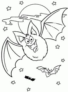 10 Best Bats Coloring Pages Your Toddler Will Love To Do: Kids hold deep fascinations for all mysterious things. Bats […] Make your world more colorful with free printable coloring pages from italks. Our free coloring pages for adults and kids. Halloween Coloring Pages Printable, Bat Coloring Pages, Free Halloween Coloring Pages, Coloring Pages For Kids, Coloring Books, Halloween Printable, Free Coloring, Online Coloring, Moldes Halloween